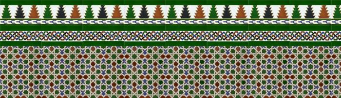Arabian colour mosaics